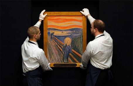 Знаменитая картина «Крик» норвежского художника-экспрессиониста Эдварда Мунка продана на аукционе Sotheby\'s в Нью-Йорке за 119,9 млн долларов.