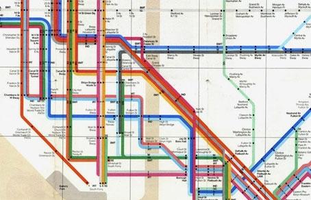 схема нью-йоркского метро