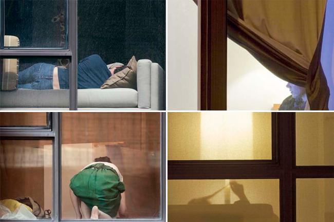 фото соседки в окне