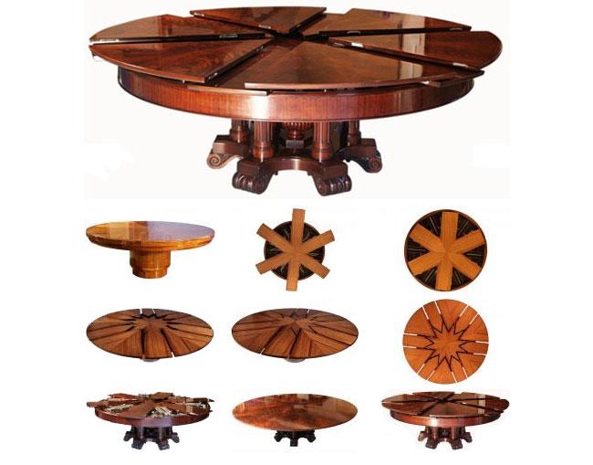 Круглый раздвижной стол чертежи