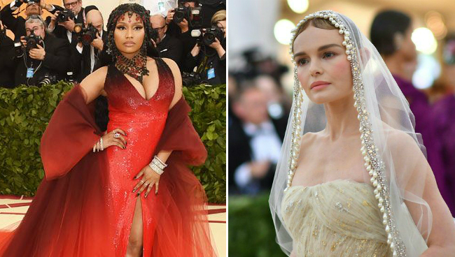 Ники Минаж и Кейт Босуорт на Met Gala 2018. Фото: REUTERS / GETTY/ANGELA WEISS/AFP/GETTY IMAGES