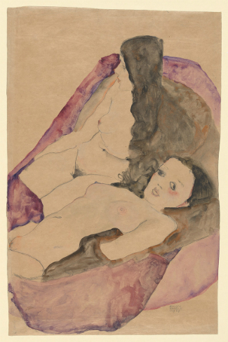 Egon Schiele 'Two Reclining Nudes', 1911. (The Metropolitan Museum of Art, Bequest of Scofield Thayer, 1982)