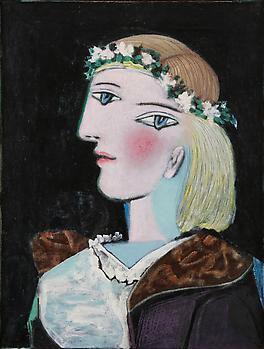 Пабло пикассо marie thérèse avec une guirlande 1937
