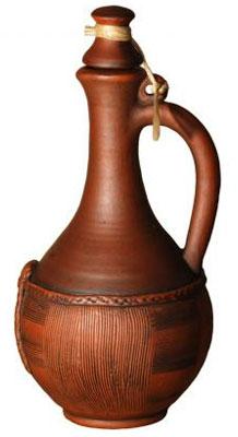 Глиняный кувшин для вина «Корзинка» можно купить в магазинах и на сайтах Торгового Дома «Санкт-Петербург»