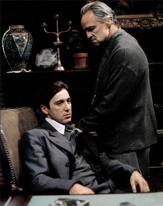 Кадр из фильма «Крестный отец» (The Godfather) режиссера Френсиса Форда Копполы.