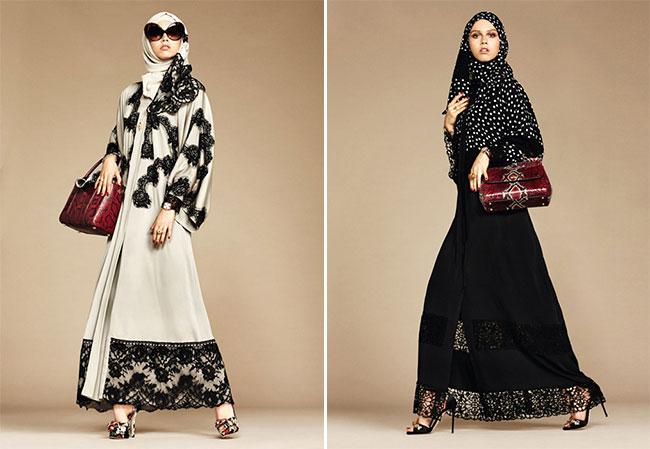 Арабские хиджабы в кружевах и розах: новая революционная коллекция от Dolce & Gabbana.